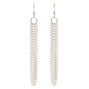 Sterling Silver Chain Earrings Web-1