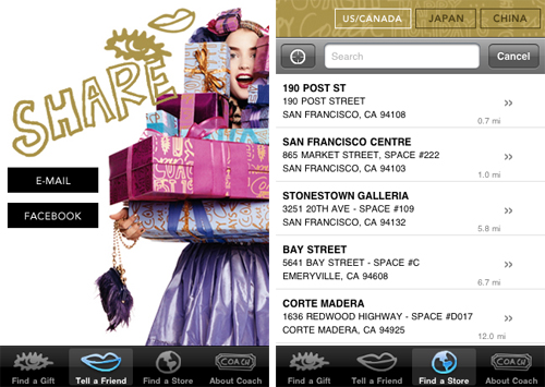 Coach Iphone App Location