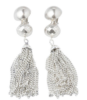 Angie Silvertassel Earrings