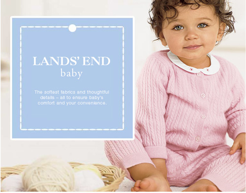 Lands End Baby Coquette Maman