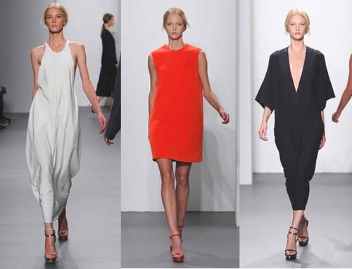 Calvin Klien's RTW Spring 2011 line combines sleek and simple, ...