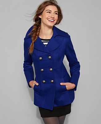 Esprit - Double Breasted Pea Coat  From Macys