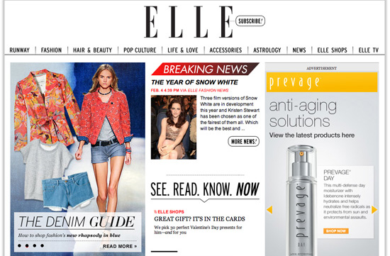 New Elle Dot Com Site