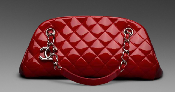 Chanel-Mademoiselle-Small-Bowling-Redpatent