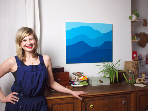 Diy Craft Mountain Painting