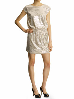 Arynk Sequindressgold