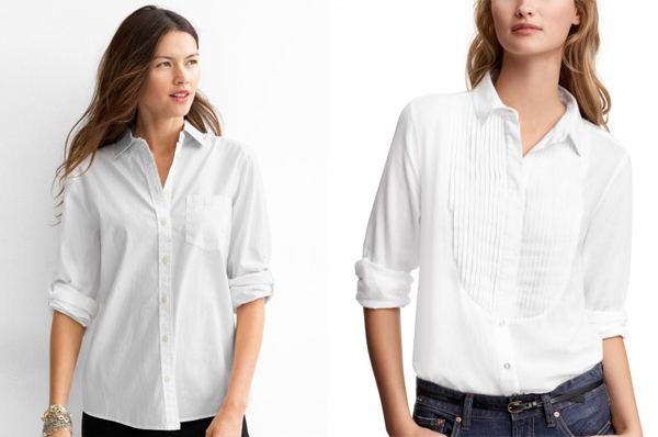 Whiteshirt Gap Bananarepublic