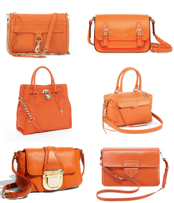 Color Burst: Orange Handbags