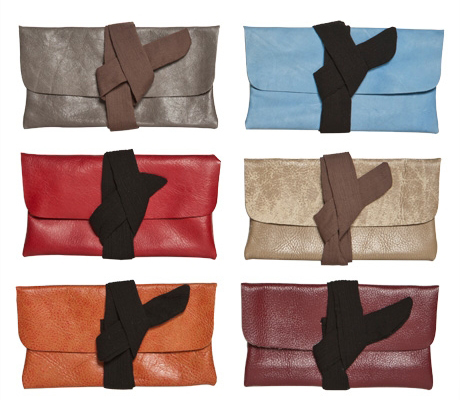 Poketo Leather Upcycled Clutches