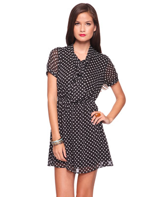 Polka-Dot-Black-Dress