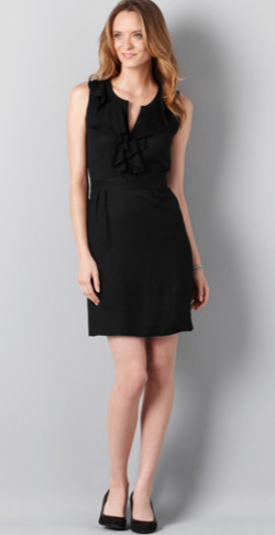 Loft-Ruffleblackdress