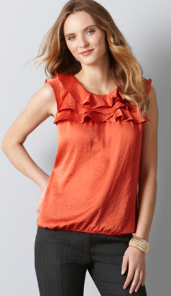 Loft-Orange-Ruffleshell