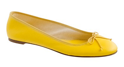 Jcrew-Yellowballetflat