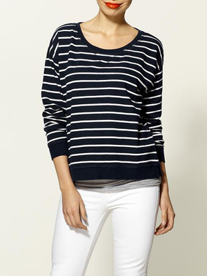 French-Stripe-Sweatshirt