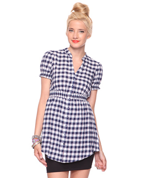 Gingham-Plaid-Tunic-Forever21