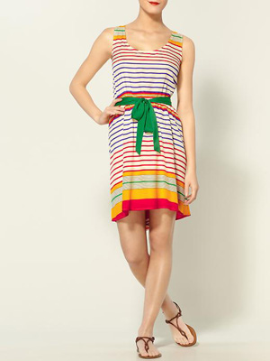 Striped-Dress
