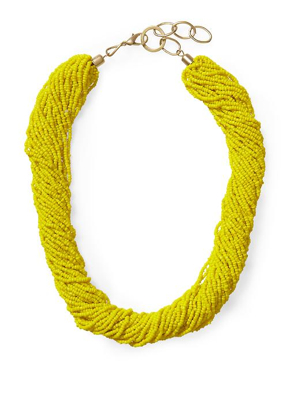Sabine-Twisted-Yellow-Beaded-Necklace
