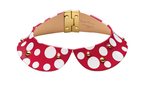 Louisvuitton-Kusama-Collier-Red