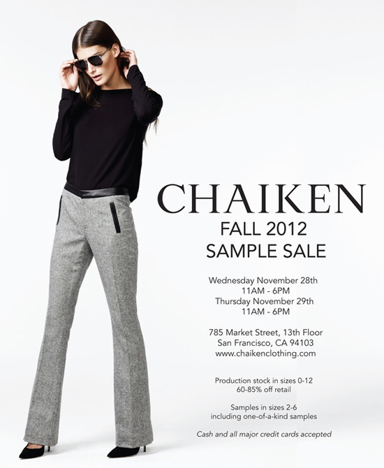 Chaiken-Samplesale-Fall2012