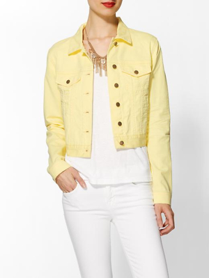 Bcbg-Denim-Jacket-Yellow
