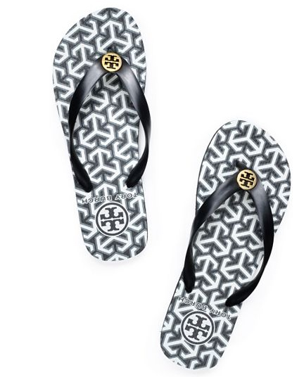 Tory-Burch-Printed-Flipflops-Black-White