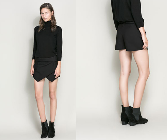 Zara-Mini-Skort-Black-Main