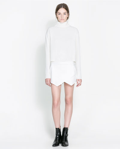 Zara-Mini-Skort-White