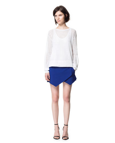 Zara-Mini-Skort-Blue