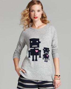 Aqua-Robot-Sweater