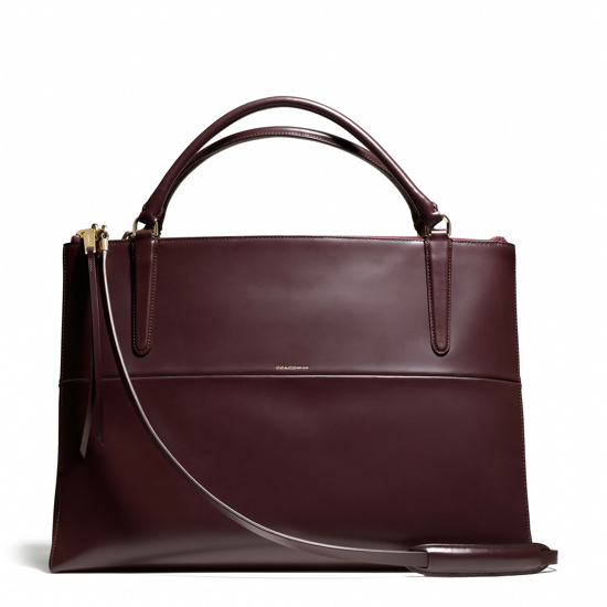 Coach-Large-Borough-Polished-Oxblood