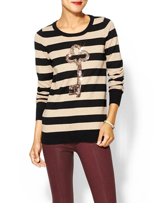 Sequinstripe-Key-Sweater