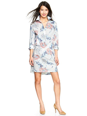 Gap-Floral-Henley-Shirtdress