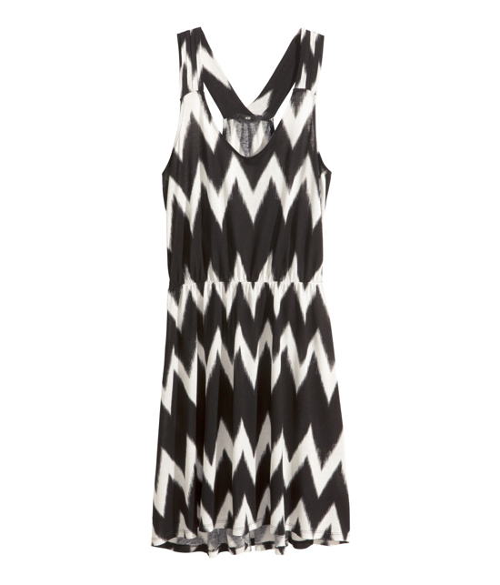 Hm-Beachdress-Black-White