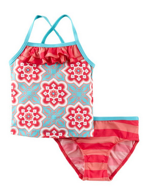Tea-Girls-Seaside-Tile-Tankini