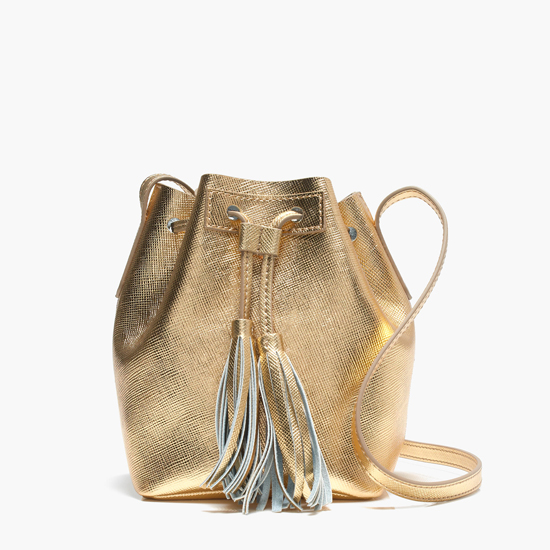 Jcrew-Goldbucketbag