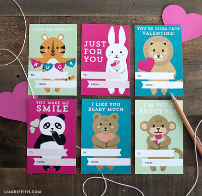 Card Printables Kids Valentines Day