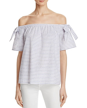 Striped-Offshoulder-Top-Bloomingdales