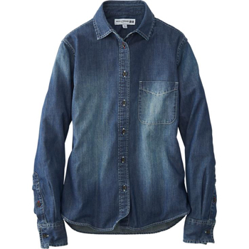 Ines-De-La-Fressange-Denim-Shirt-Uniqlo