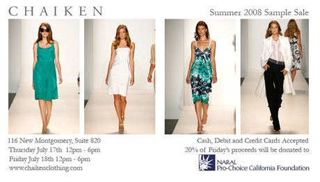Chaiken Summer08Samplesale
