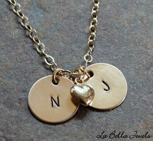 Initalnecklace Bellabutton