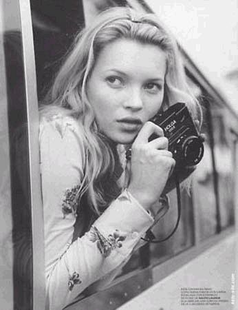 Kate Moss With Camera