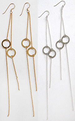 Kif Long Circle Earrings-1
