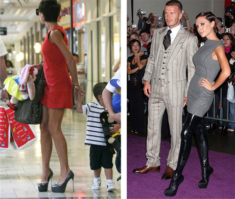 "Of course the queen of wearing ""art shoes"" is Victoria Beckham."