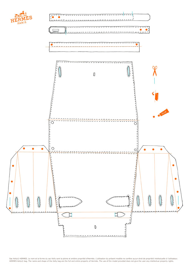 The White Hermes Kelly Bag Template And Instructions Source